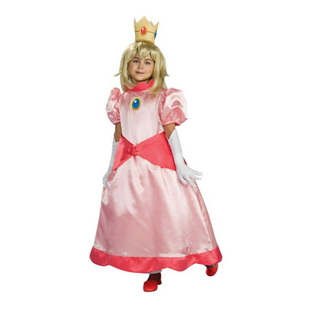 Super Mario Brothers Deluxe Princess Peach Child Costume - Princess Peach Adult Games