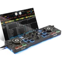 Beginner DJ Bundle: Hercules DJ Control Starlight + Serato DJ Pro Software + One Free Month of Music