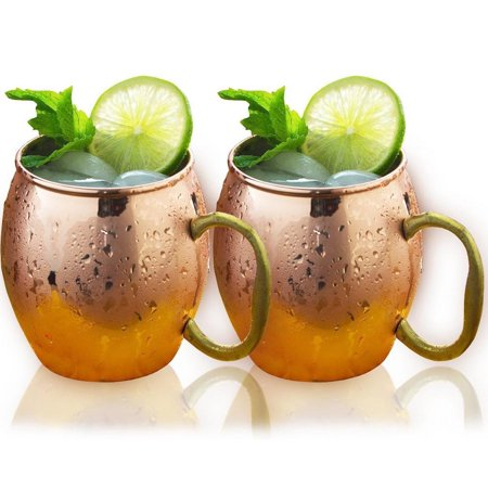 Estilo Handcrafted Solid Moscow Mule Mugs (Set of 2), 20 oz,