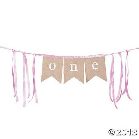 Burlap One Banner](Burlap Birthday Banner)
