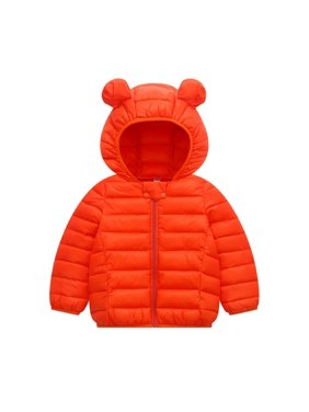Winter Children Kid Toddler Boy Girl Warm Hooded Jacket Coat Cute Ear Hat Parka Overcoat Thick Down Coat for 1-6T