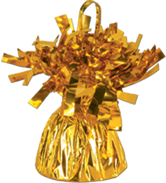 Gold Metallic Wrapped Balloon Weight - 6 oz. Case Pack 12