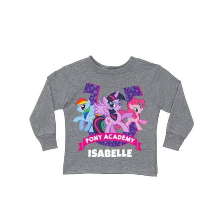 Grey Pony - Personalized My Little Pony Academy Gray Girls' Long Sleeve T-Shirt