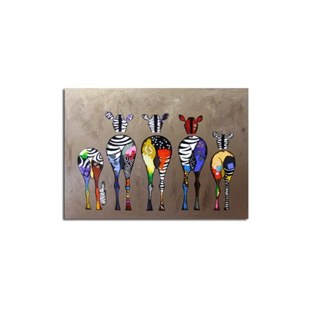 Abstract Cartoon Zebra Oil Painting Colorful Wall Decorative Canvas Art Pictures No Framed Oil Drawing Posters Decorate Oil Painting
