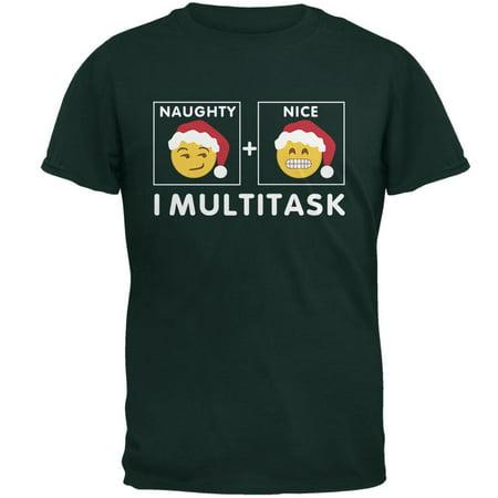 Christmas Naughty and Nice Multitask Forest Adult T-Shirt - Naughty And Nice Adult
