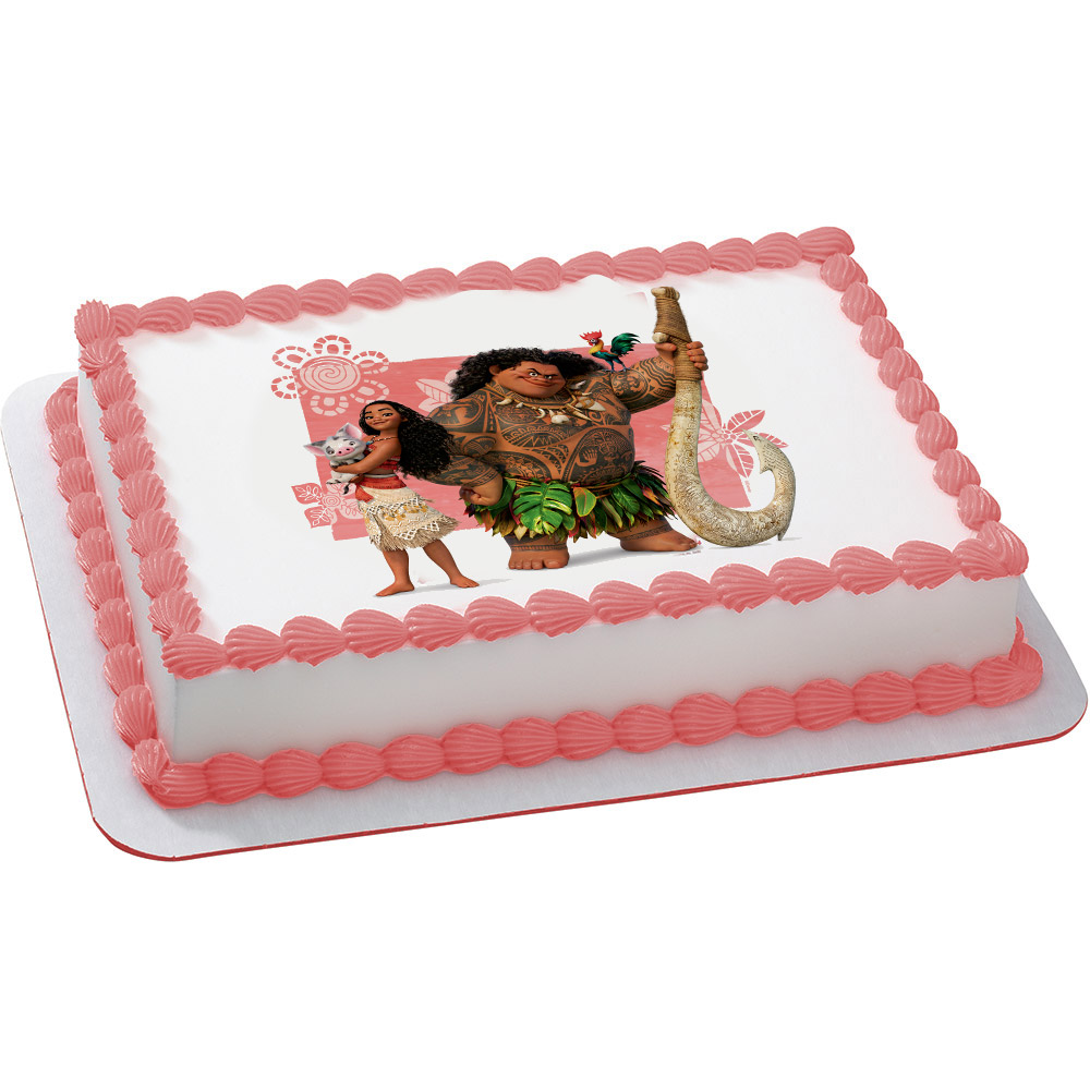 Moana Quarter Sheet Edible Cake Topper Each Walmartcom