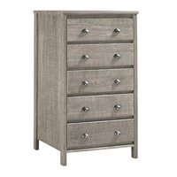 Baja Five Drawer Chest - Rustic Grey Finish
