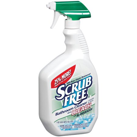 Scrub Free Bathroom Cleaner With Bleach 40 Oz