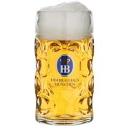 Hofbrauhaus Munich Munchen German Glass Dimple Beer Mug 1 L Germany Oktoberfest by Beer Mugs