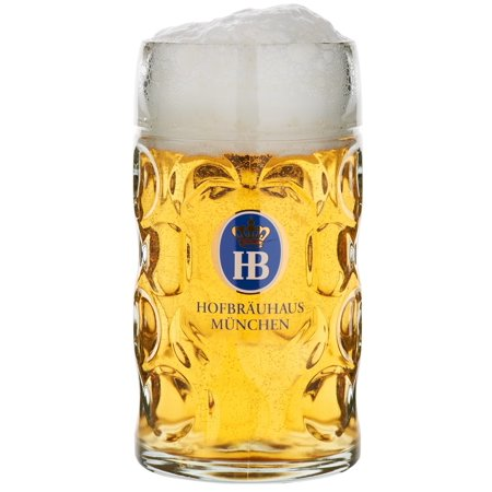 Oktoberfest Plastic Beer Mugs (Hofbrauhaus Munich Munchen German Glass Dimple Beer Mug 1 L Germany)