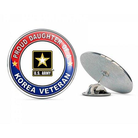 Korea Lapel Pin - U.S. Army Proud Daughter of a Korea Veteran Metal 0.75