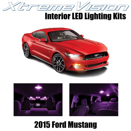 XtremeVision LED for Ford Mustang 2015+ (8 Pieces) Pink Premium Interior LED Kit Package + Installation Tool (Mustang Led Lights Interior)
