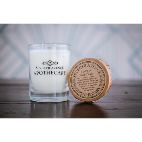 Seventh Avenue Apothecary Cranberry and Winter Squash Soy Scented Jar Candle (Set of 3)