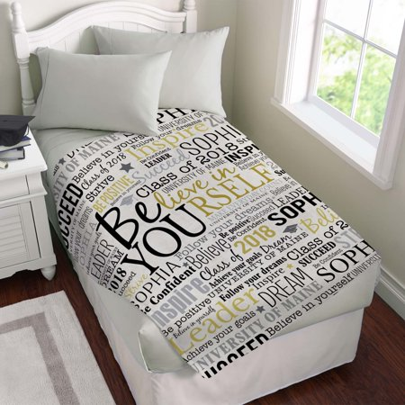 Personalized Believe in Yourself Plush Blanket (Personalized Shelf)