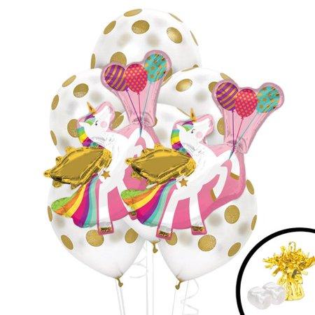 NA 11 Piece Unicorn Jumbo Balloon Bouquet Plastic Disposable Centerpiece Set](Balloon Centerpiece Ideas)