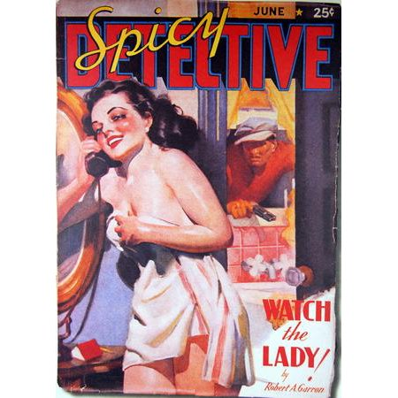 Pulp Fiction Art Spicy Detective Lady 11x17 Mini Poster](Spicy Detective)
