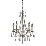Sterling Antique Silver Chandelier In Silver Finish Clear 122-012