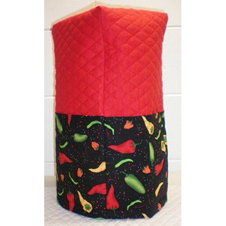 Quilted Hot Peppers Large Blender Cover (Red)