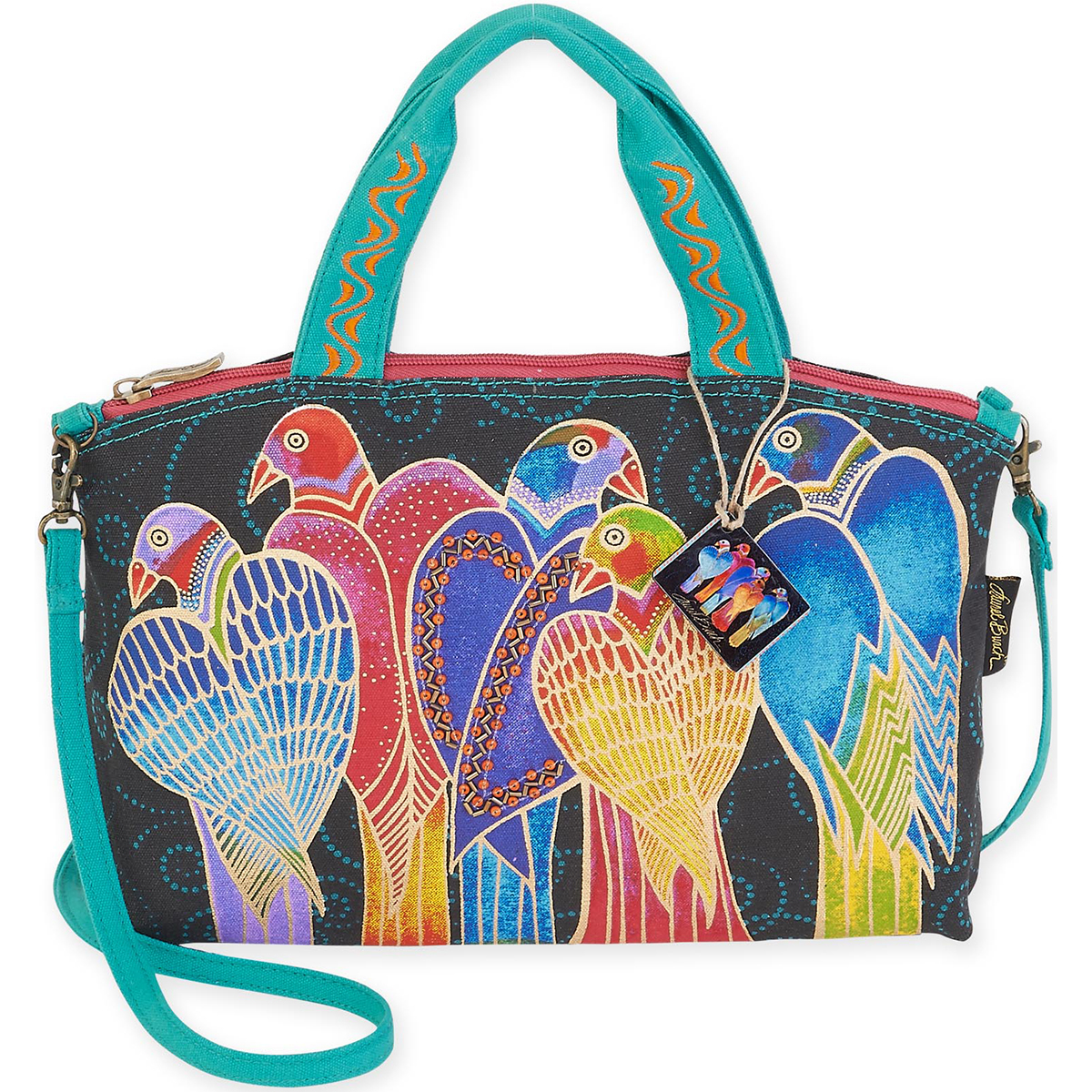 "Small Tote 12""X3.5""X8""-Brazilian Birds"