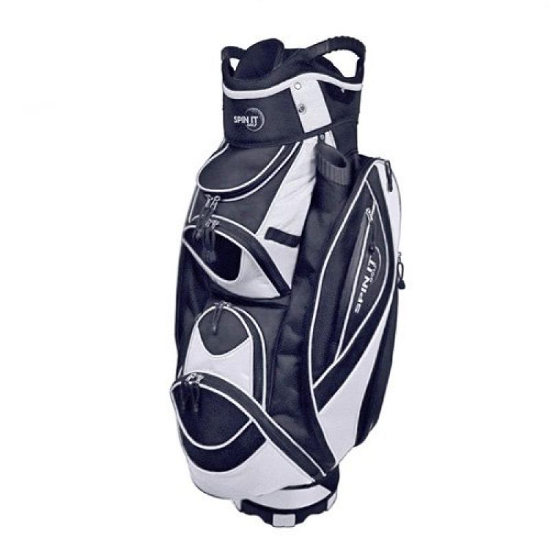 "Click here to buy Spin It Golf Products ""Easy Play"" Golf Cart Bag, Black by Spin It Golf Products, LLC."