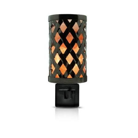 Himalayan Glow 1809 Himalayan Wall Salt lamp, 360° Rotatable Plug 7W