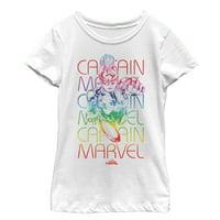 Marvel Girls' Captain Marvel Rainbow Kree T-Shirt