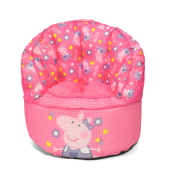 Admirable Peppa Pig Kids Bean Bag Chair Onthecornerstone Fun Painted Chair Ideas Images Onthecornerstoneorg