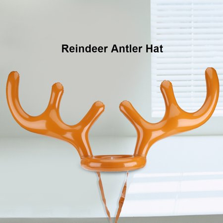 WALFRONT Inflatable Reindeer Hat Toss Game Xmas Holiday Party Toys Gift, Toss Hat,Reindeer Antler Hat (Antler Hat)