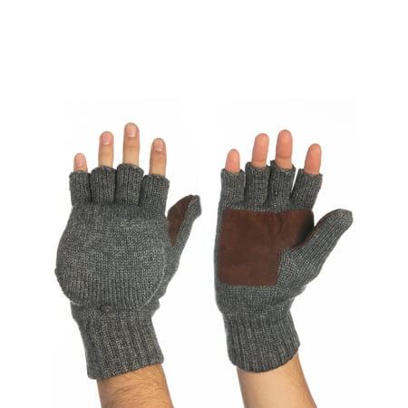 89f18d4fe6c0f John Bartlett Statements - John Bartlett Statements 3M Thinsulate Knit  Fingerless Gloves Convertible Top Wool Flip Gloves With Mitten Cover For Men  Women ...