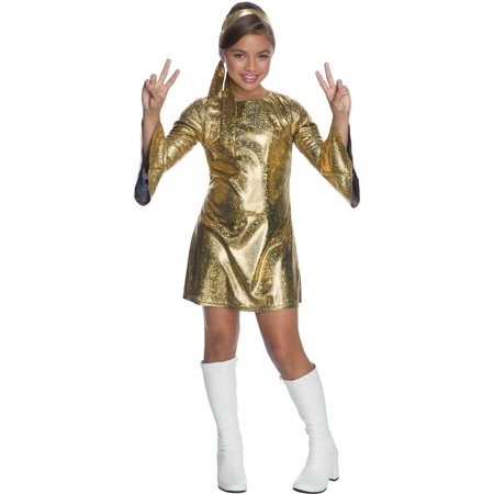 Girls Hologram Disco Diva Halloween Costume