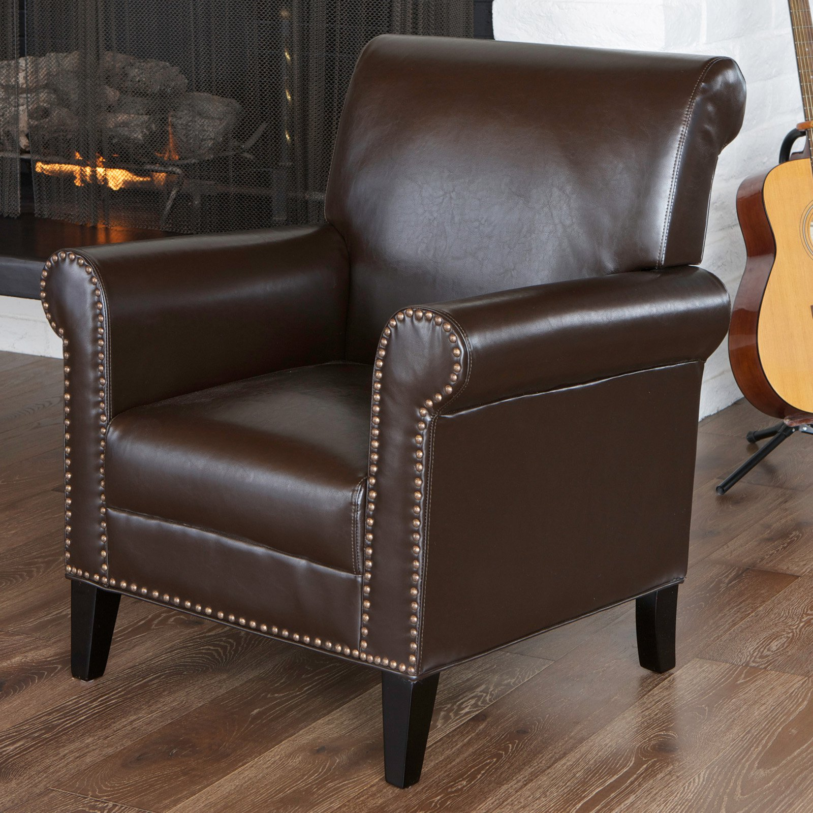 Best Selling Home Richard Studded Club Chair by Home Loft Concepts