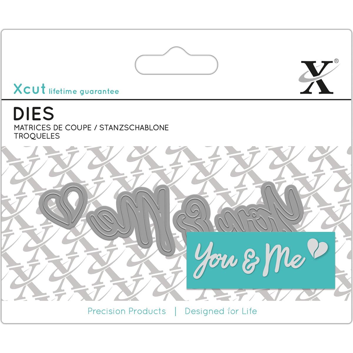 Xcut Mini Decorative Dies 4/Pkg-You & Me Sentiment