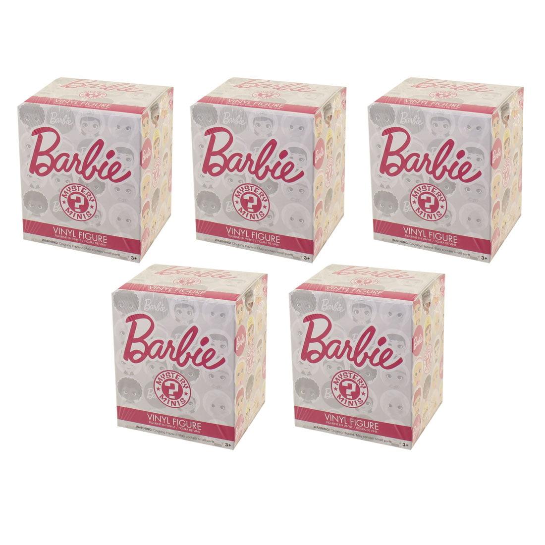 Funko Mystery Minis Vinyl Figure - Barbie - Blind Packs (5 Pack Lot)
