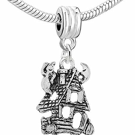 Halloween Haunted Ghost House Dangle European Bead Compatible for Most European Snake Chain Bracelet - The Origin Of Halloween In Europe
