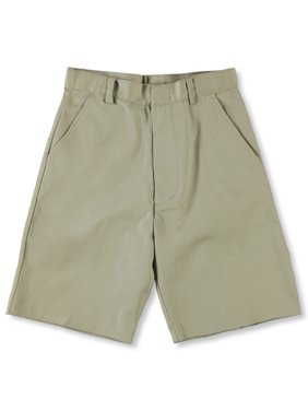 Big Boys' Flat Front Shorts w/ Adjustable Waist + Hook and Eye Closure (2T-20)