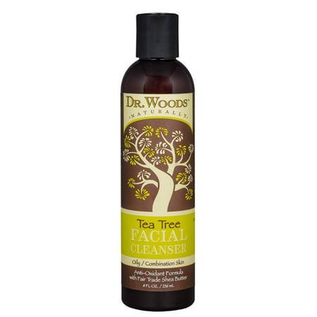 Dr. Woods Facial Cleanser, Tea Tree, 8 Fl (Guy Facial)