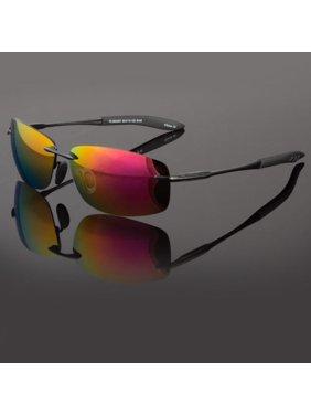 Classic Retro Vintage Mens Polarized Fashion Rimless Sunglasses Sports Glasses