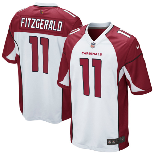 Youth Arizona Cardinals Larry Fitzgerald Nike White Game Jersey