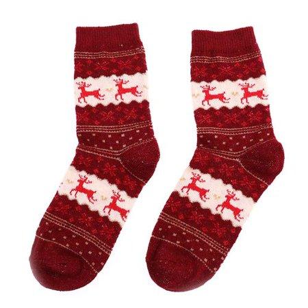 AkoaDa Christmas Wool Socks, Cute Xmas Elk Winter Cozy Thick Warm Christmas Gift Dress Socks ()