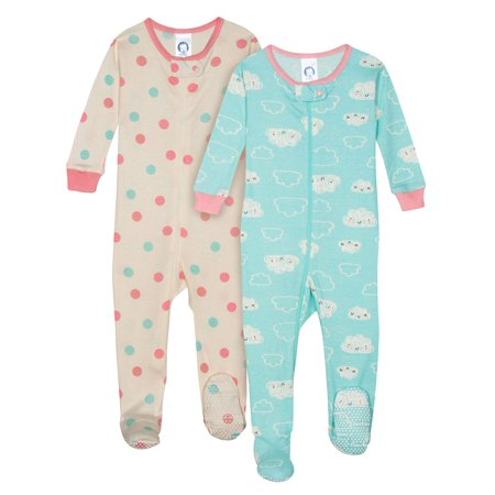 Girls Star Wars Pajamas (Organic Cotton Unionsuit Pajamas, 2pk (Baby)