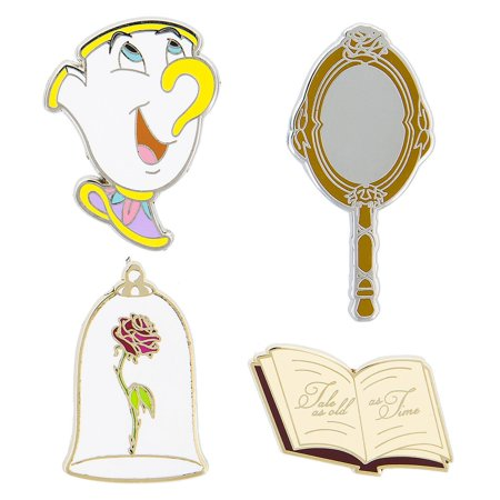 Disney Beauty and the Beast Pin Trading Flair Set Chip Enchanted Rose New](Chip Teacup Beauty And The Beast)