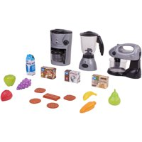 Kid Connection Kitchen Play Set with 18 Piece Accessory Play Set Including Toy Mixer, Coffee Maker, and Blender