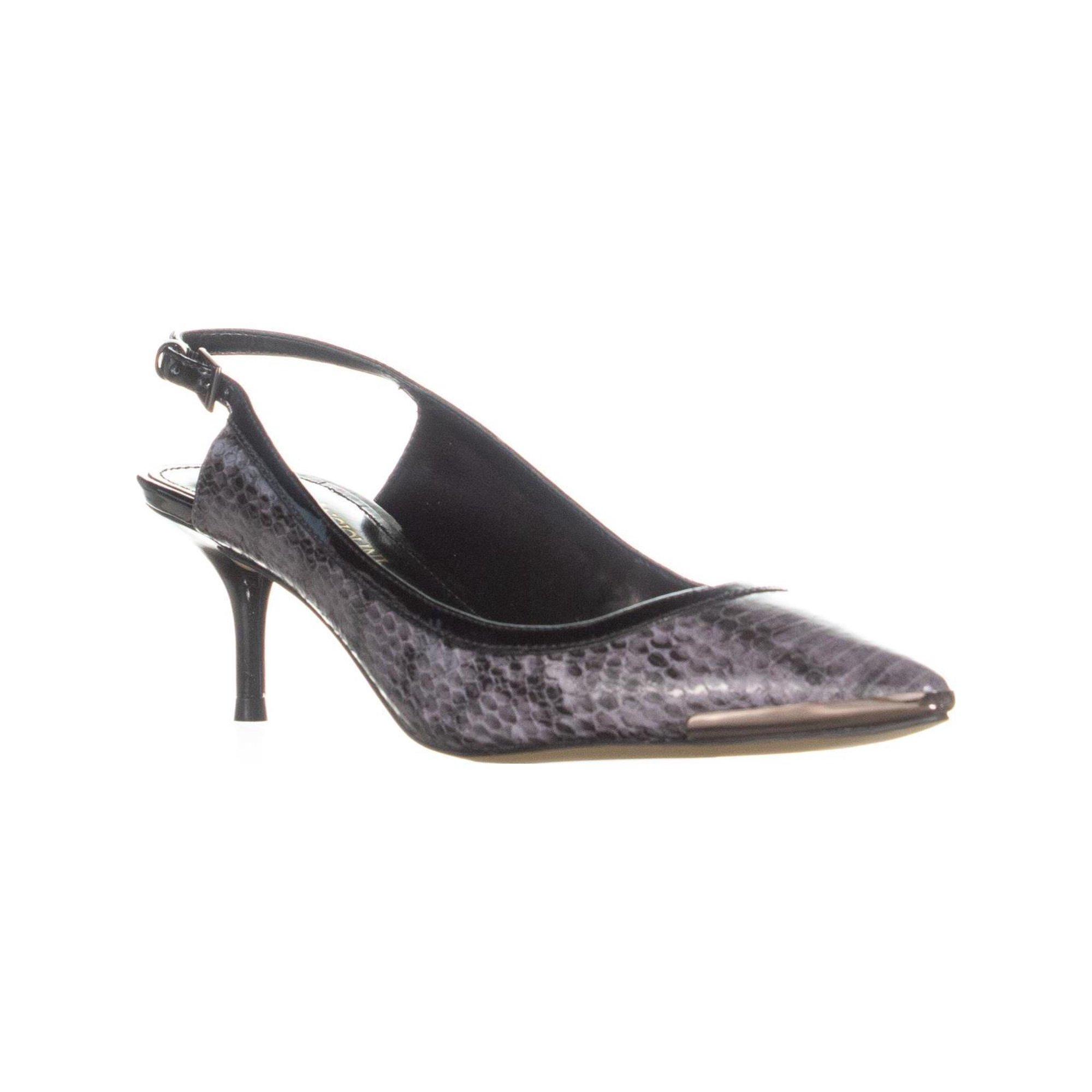 58828e8f8f Enzo Angiolini Garrac Slingback Kitten Heels, Black/Black Leather   Walmart  Canada