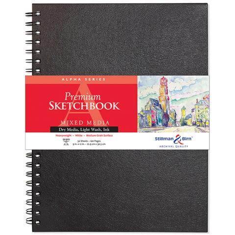 """Stillman & Birn - Alpha Series Premium Hard-Bound Sketch Book - Wire-Bound - 7"""" x 10"""""""