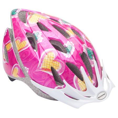 Schwinn Child Thrasher Bike Helmet, Pink Hearts