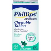 Phillips' Chewable Tablets, Fresh Mint, 100 Tablets, (1 Box)