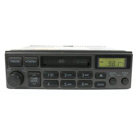 2001-2006 OEM Hyundai Elantra Receiver AM FM Cassette Part Number 96140-2D106AX -