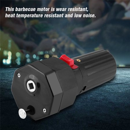 Battery Operated Electric Fence (BBQ Motor,Electric Grill BBQ Barbecue Roast Motor 1.5V Battery Operated Black Color,Barbecue Motor)