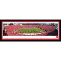 Nebraska Cornhuskers Football - 50 Yard Line - Blakeway Panoramas College Print with Select Frame and Single Mat