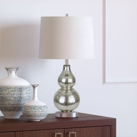 Katrina Petite Glam Double Gourd Table lamp in Mercury Glass ()